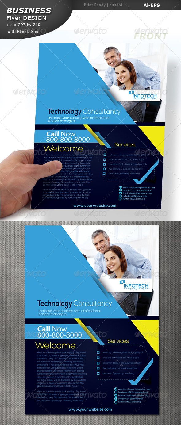 Business Flyer Design  - Flyers Print Templates