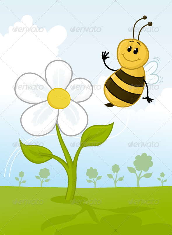 Happy Bee - Animals Characters