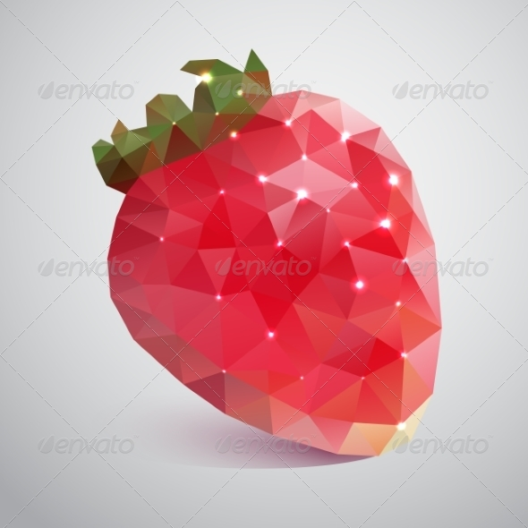 Strawberries Made of Triangles - Seasons Nature