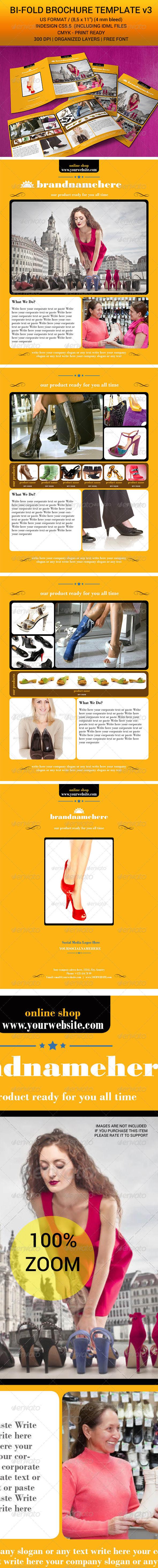 Bi-Fold Brochure Indesign Template v3 - Corporate Brochures