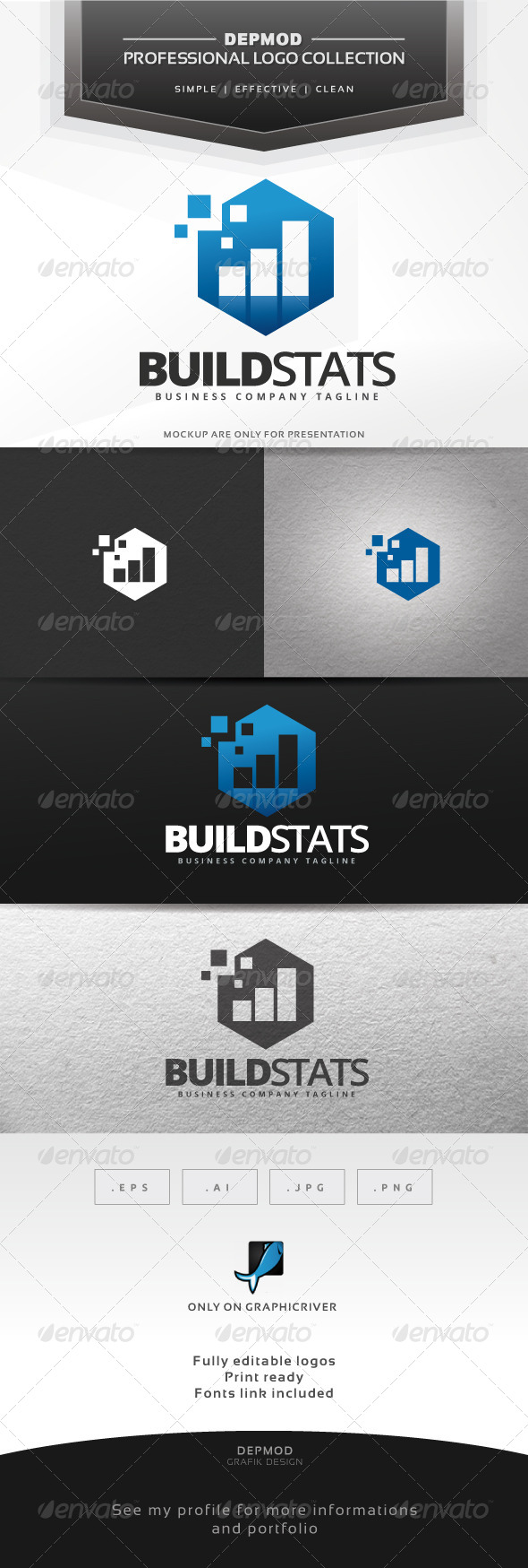 Build Stats Logo - Symbols Logo Templates