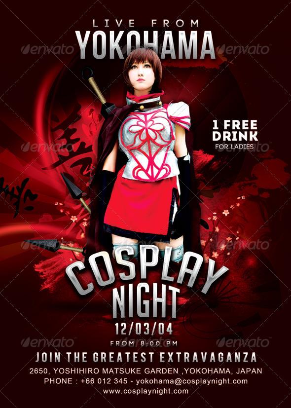 Cosplay Night Yokohama Flyer - Events Flyers