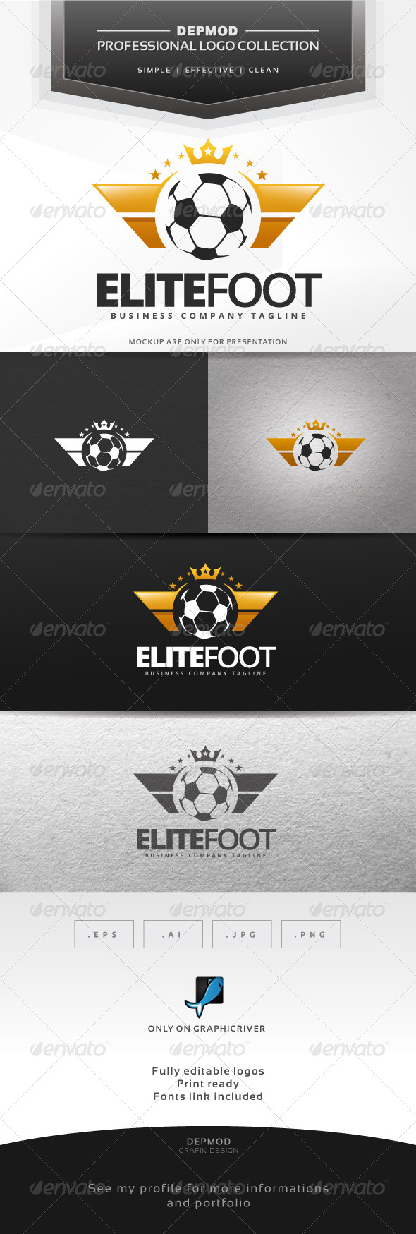 Elite Foot Logo - Crests Logo Templates