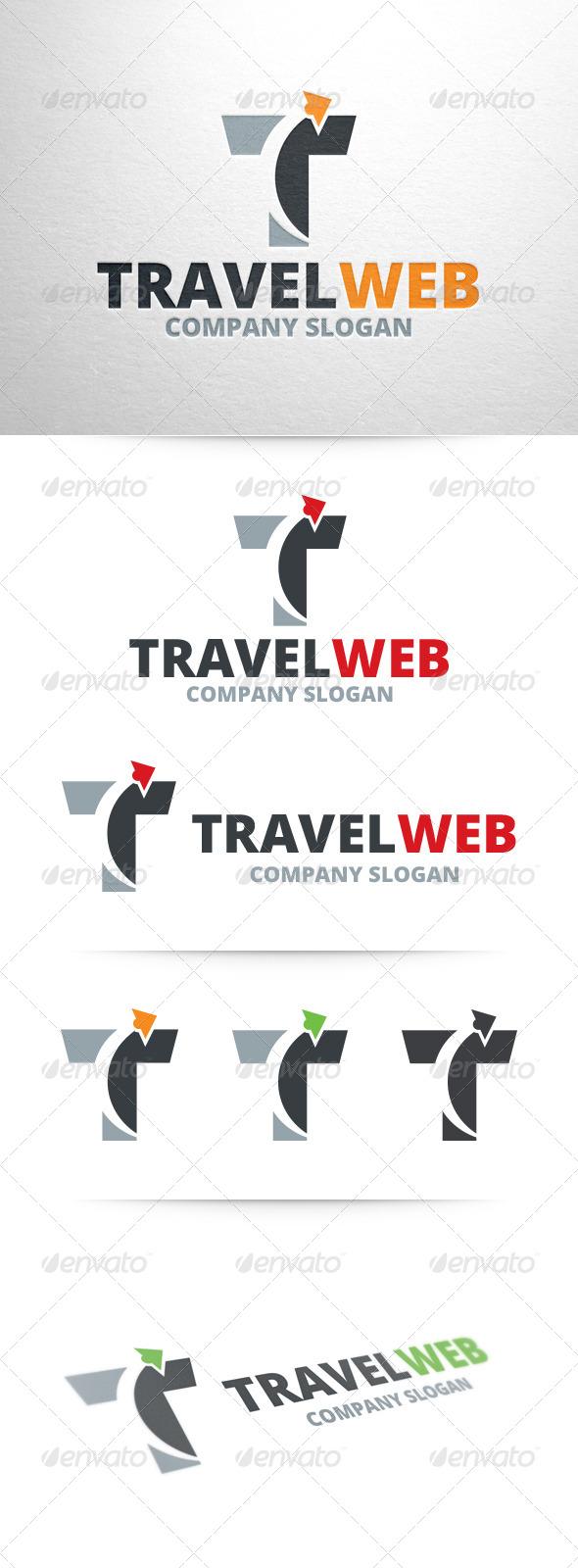 Travel Web - Letter T Logo - Letters Logo Templates