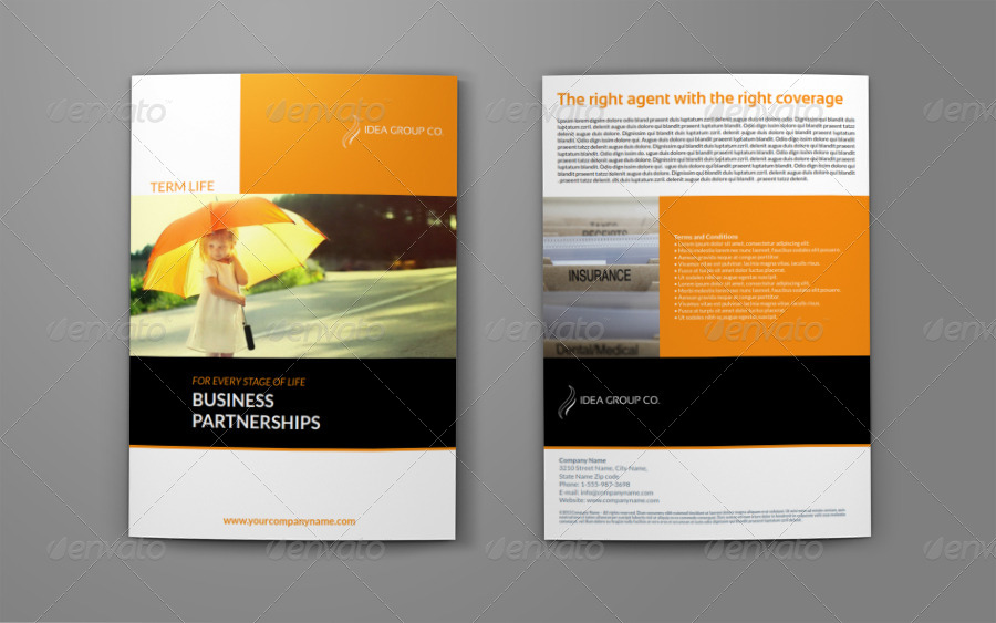 Company brochure insurance bi fold design template by owpictures company brochure insurance bi fold design template altavistaventures