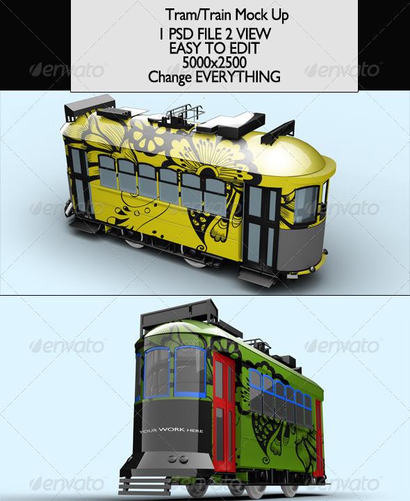 Tram/Train Vol2 Mock-Up - Product Mock-Ups Graphics