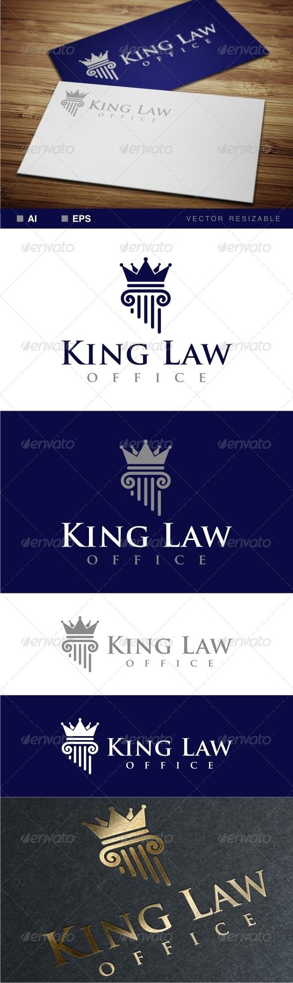King Law Office Logo - Symbols Logo Templates