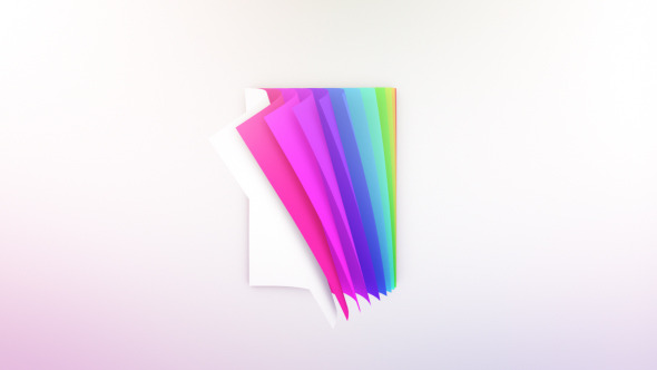 Colorful Pages Logo Reveal By Sachinjoshi Videohive