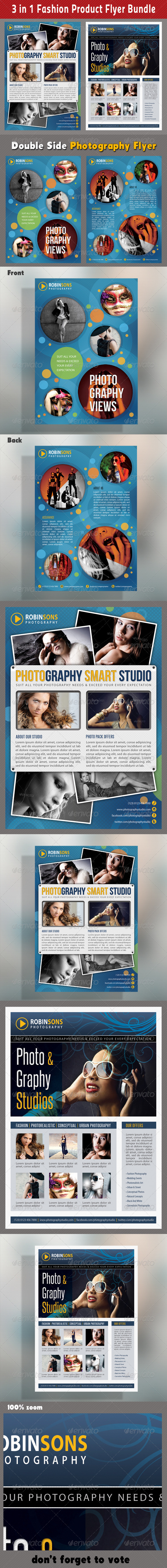 3 in 1 Fashion Product Flyer Bundle 13 - Commerce Flyers