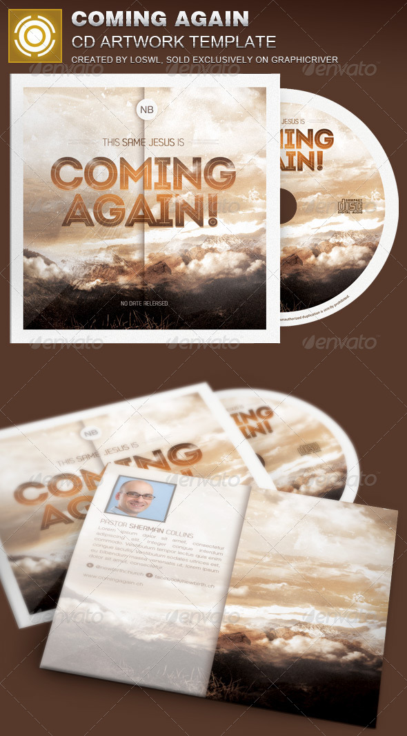 Coming Again CD Artwork Template - CD & DVD Artwork Print Templates