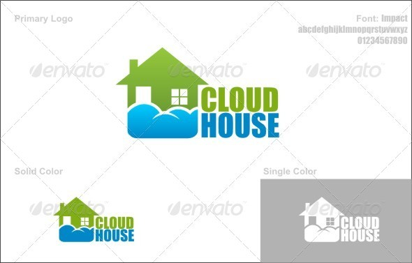 Cloud House - Buildings Logo Templates