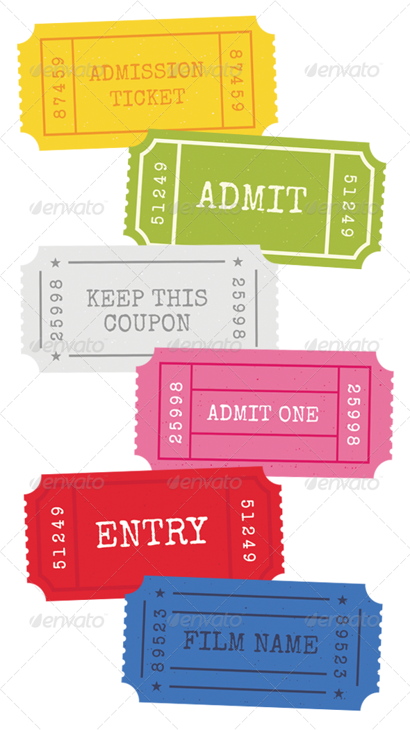 Admission Tickets - Vector - Man-made Objects Objects