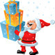 Vector a happy Santa Claus brings in the hands of  - GraphicRiver Item for Sale