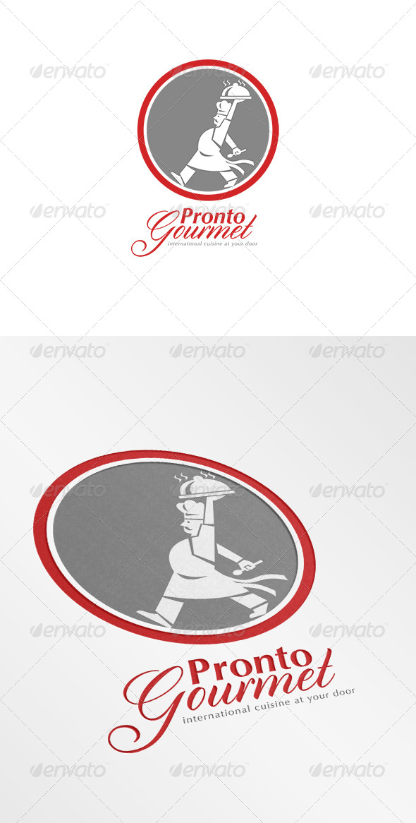 Pronto Gourmet Retro Logo - Humans Logo Templates