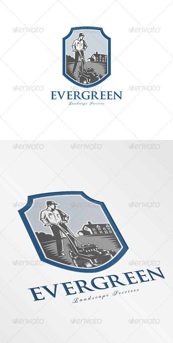 Evergreen Landscape Services Logo - Humans Logo Templates