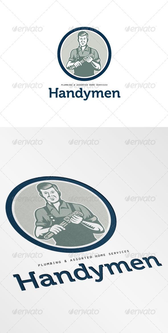 Handymen Plumbing Services Logo - Humans Logo Templates