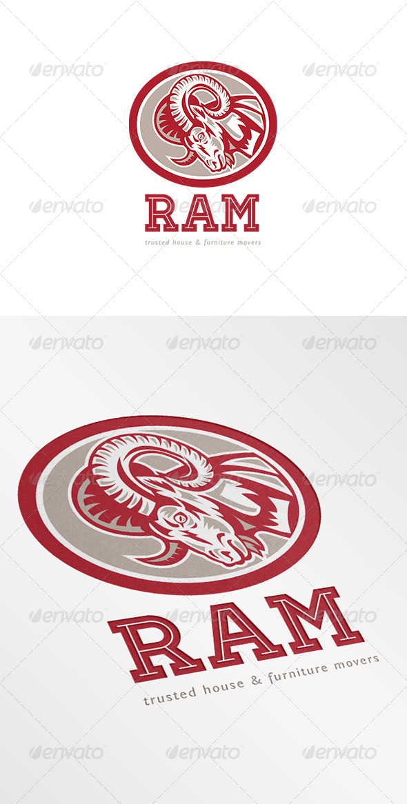 Ram Trusted House and Furniture Movers Logo - Animals Logo Templates