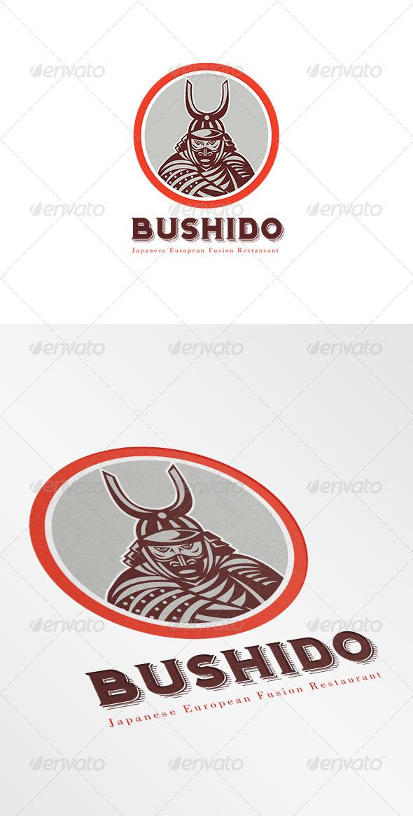 Bushido Japanese Restaurant Logo - Humans Logo Templates