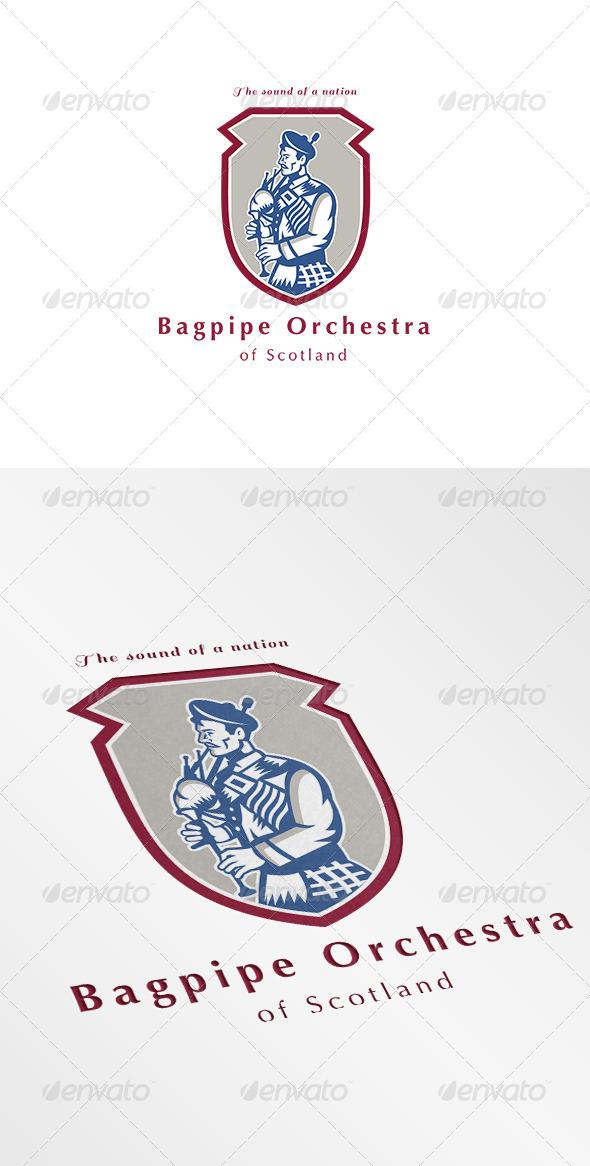 Bagpipe Orchestra of Scotland Logo - Humans Logo Templates