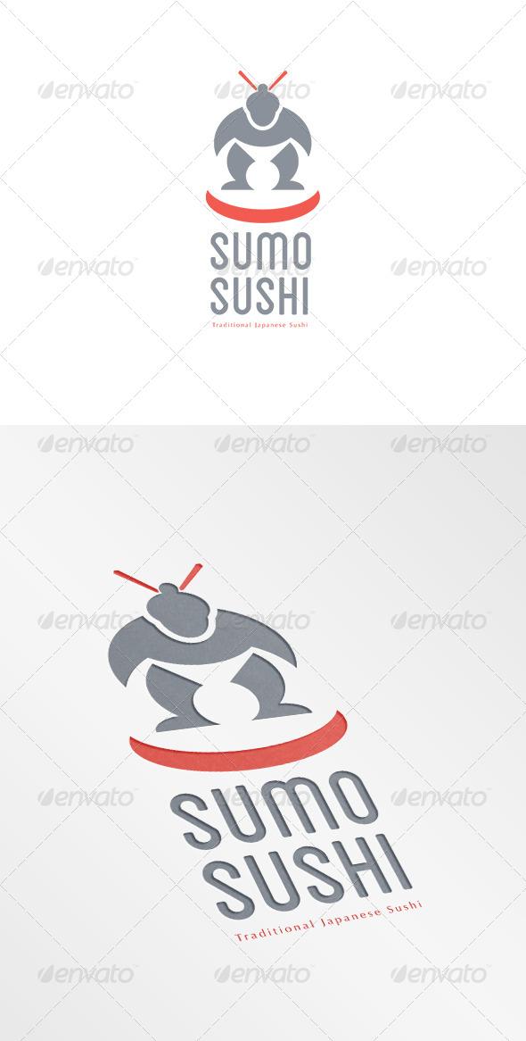 Sumo Sushi Traditional Japanese Logo - Humans Logo Templates