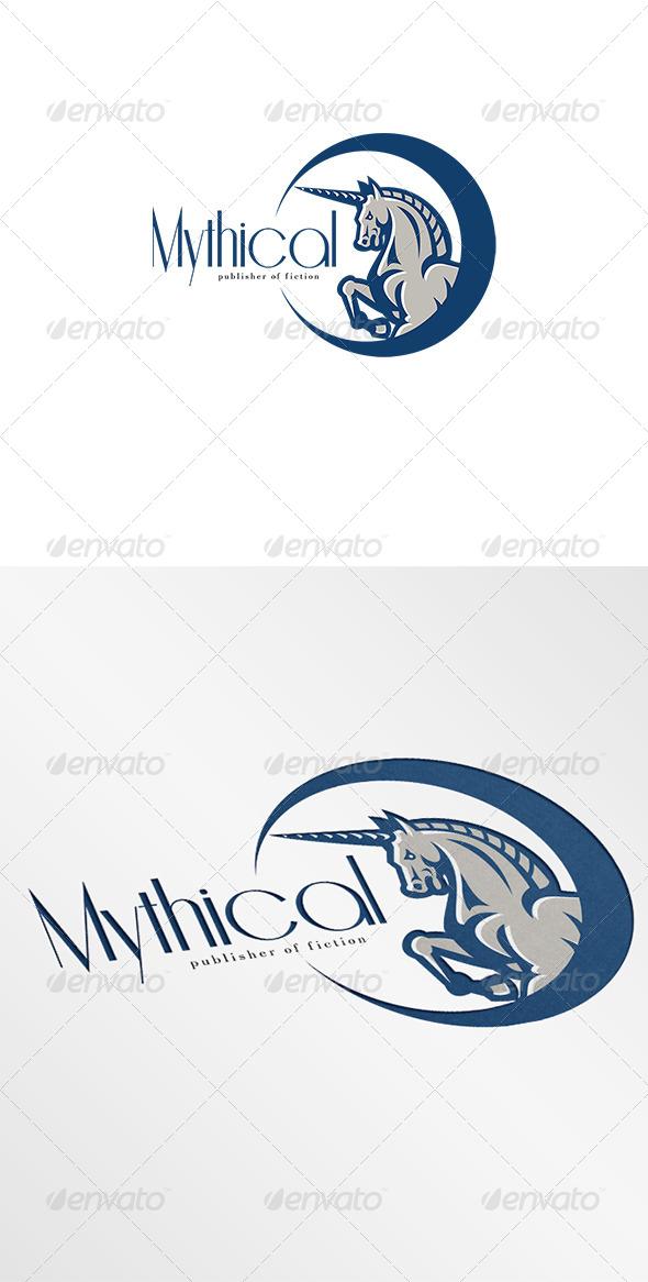 Unicorn Mythical Publishers Logo  - Animals Logo Templates