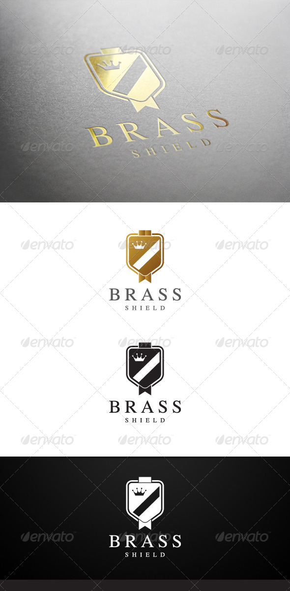 Brass Shield Logo - Crests Logo Templates
