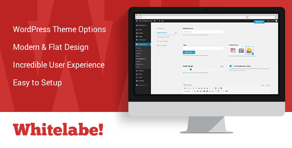 Whitelabel WordPress Theme & Plugin Options Panel - CodeCanyon Item for Sale