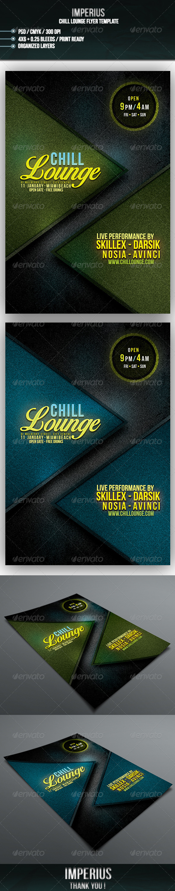 Chill Lounge Flyer - Flyers Print Templates