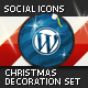 Christmas Decoration Set — Social Icons - GraphicRiver Item for Sale