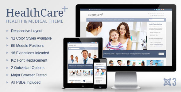 HealthCare+ Medical & Health Joomla Theme