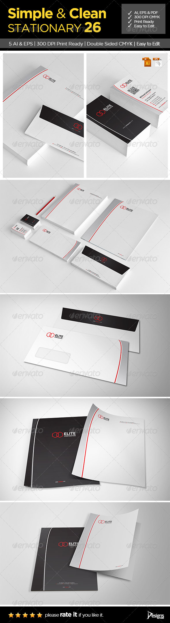 Simple and Clean Stationary 26 - Stationery Print Templates