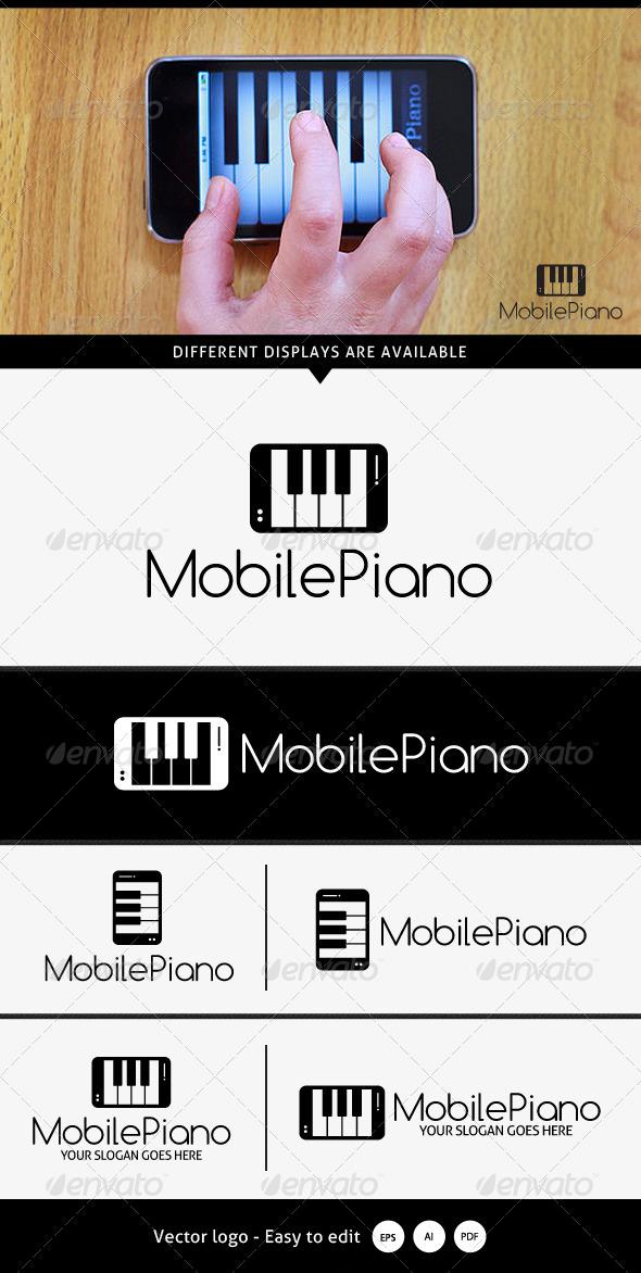 Mobile Piano Logo - Logo Templates