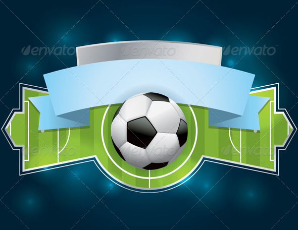 Soccer - Football Badge and Banner - Sports/Activity Conceptual