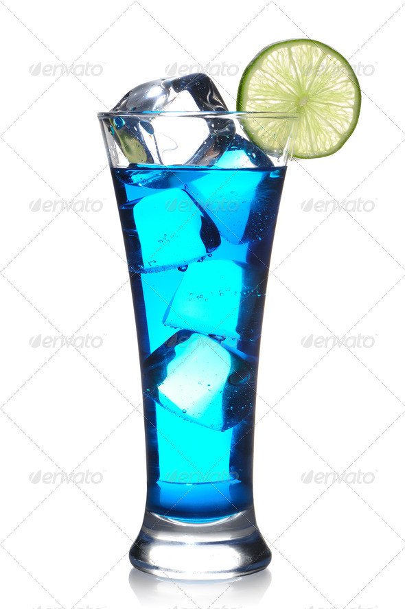 Blue Curacao cocktail - Stock Photo - Images