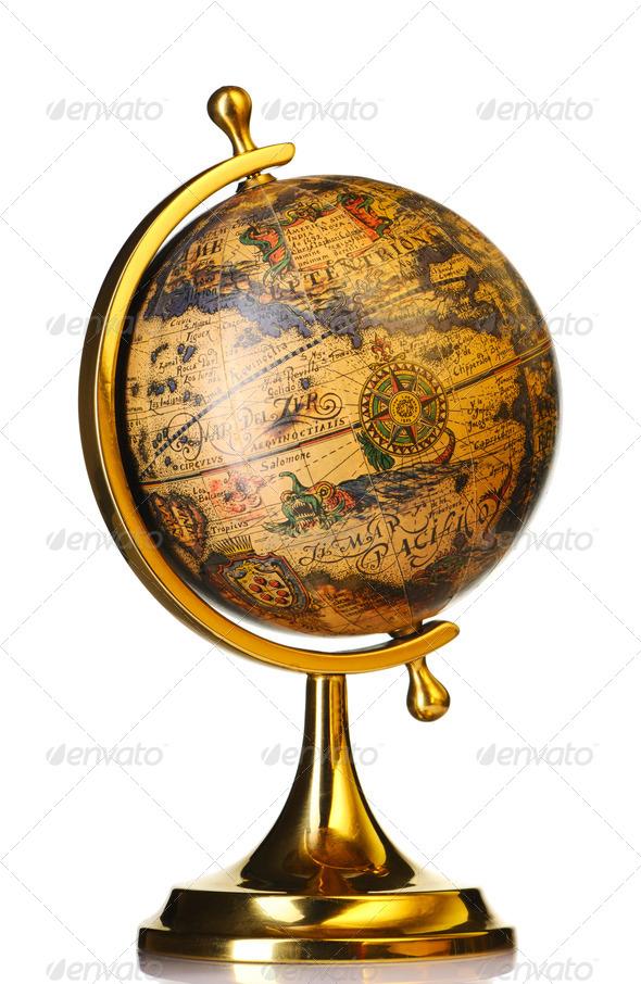 Old globe - Stock Photo - Images