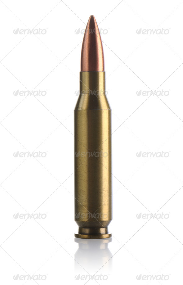 Full metal jacket bullet - Stock Photo - Images