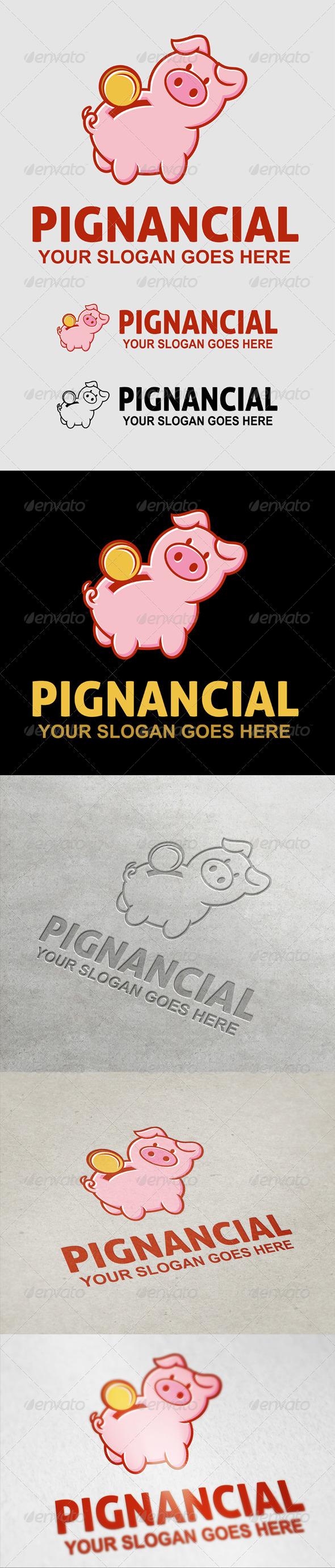 Pignancial Logo - Animals Logo Templates