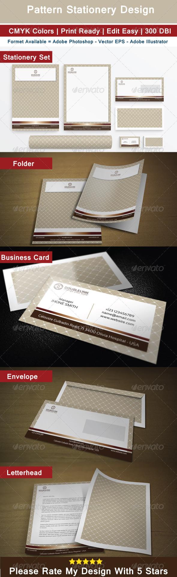 Pattern Stationery Design - Stationery Print Templates