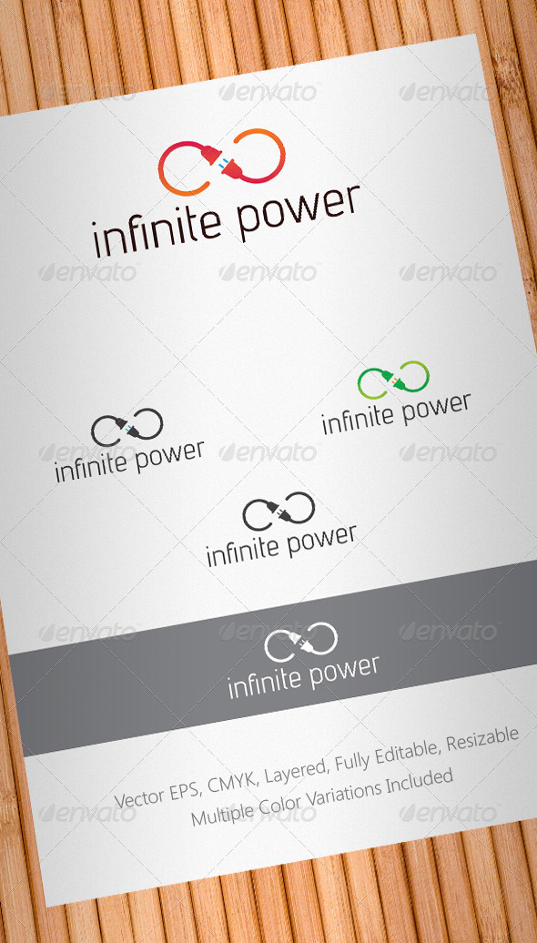 Infinite Power Logo Template - Abstract Logo Templates
