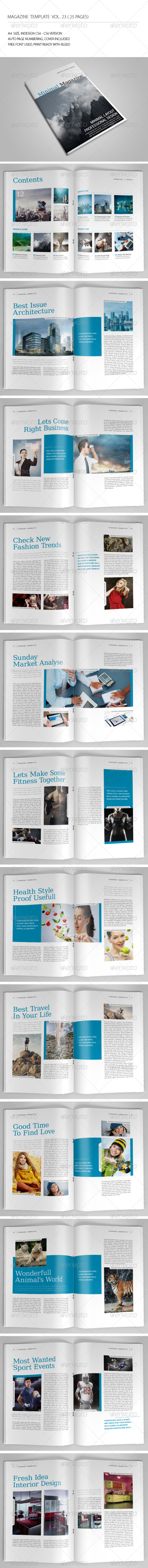 25 Pages Minimal Magazine Vol23 - Magazines Print Templates