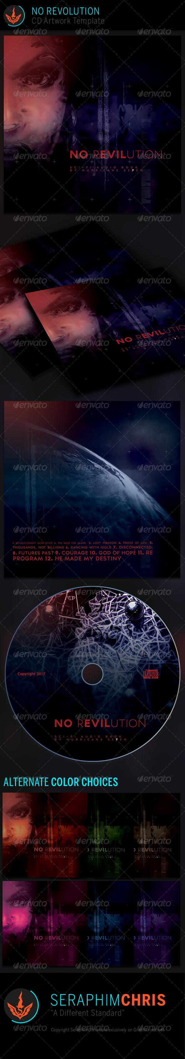 No Revolution: CD Artwork Template - CD & DVD Artwork Print Templates