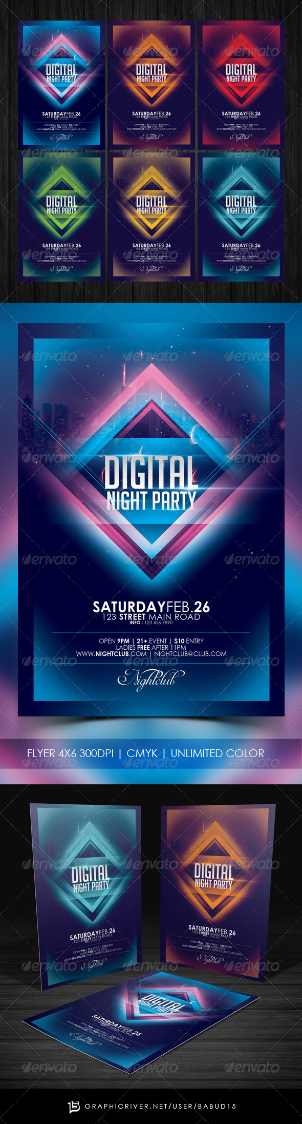 Digital Night Party Flyer Template - Events Flyers