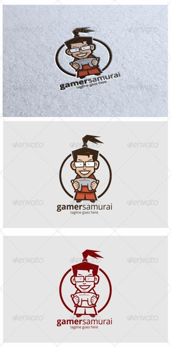 Gamer Samurai Mascot logo - Humans Logo Templates