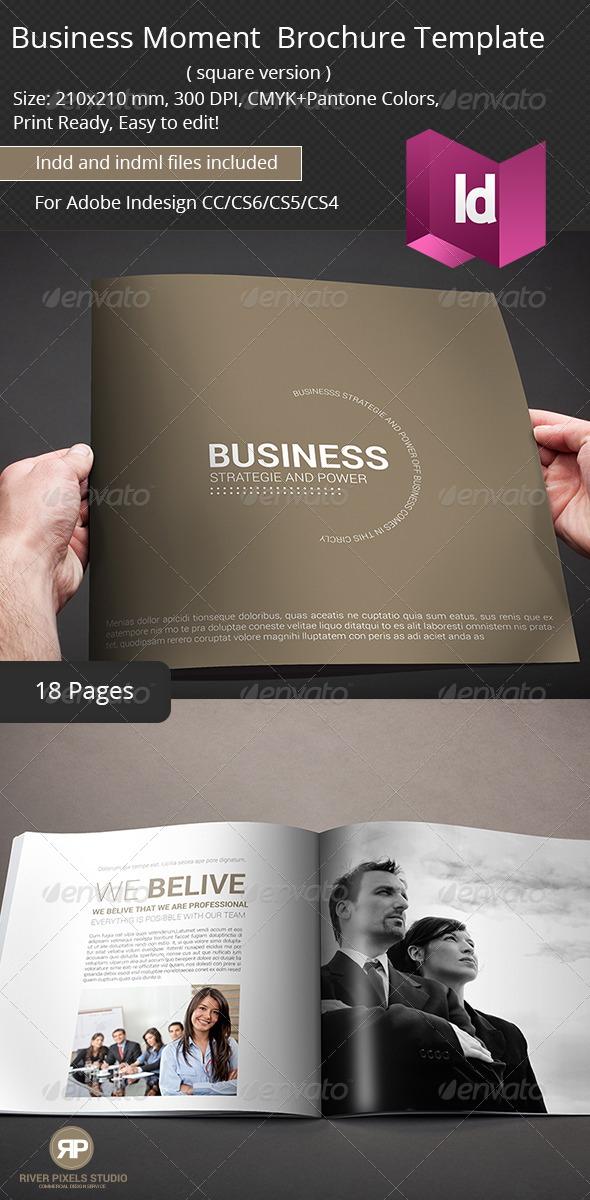 Business Moment Brochure Template - Corporate Brochures