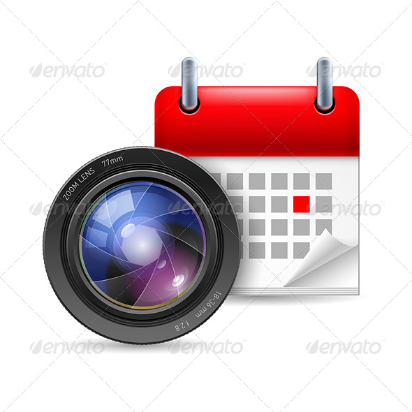 Camera Lens and Calendar - Miscellaneous Vectors