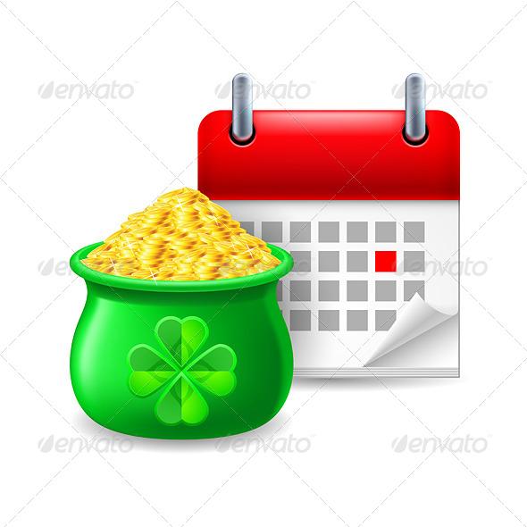 Pot of Gold and Calendar - Miscellaneous Vectors