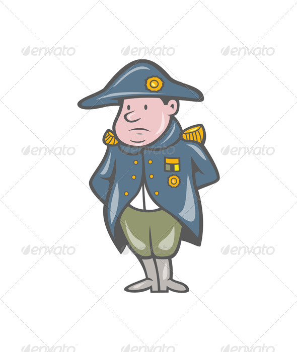 French Military General Cartoon - People Characters