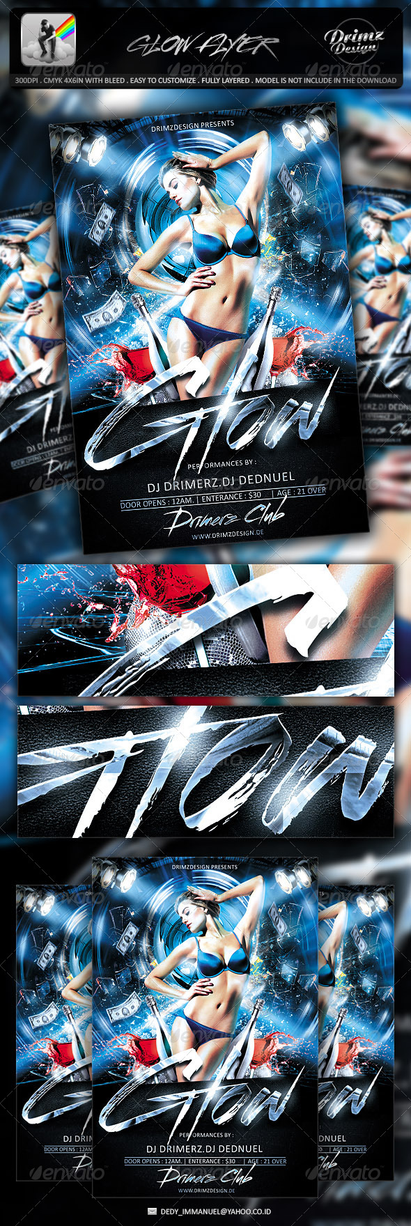 Glow Flyer - Events Flyers