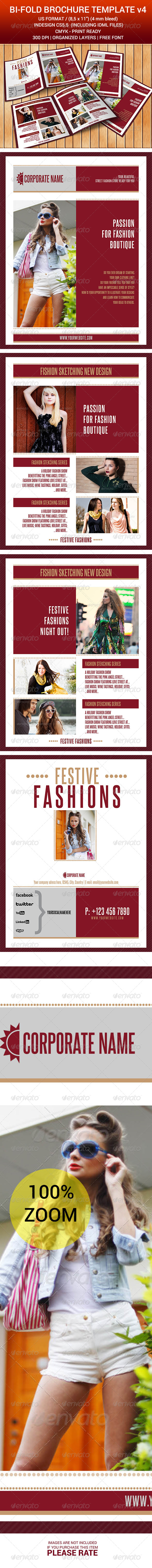 Bi-Fold Brochure Indesign Template v4 - Corporate Flyers