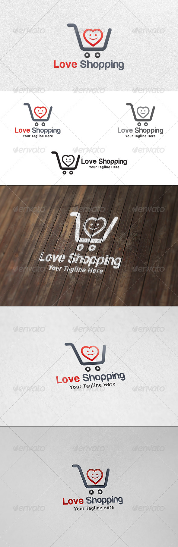 Love Shopping - Logo Template - Symbols Logo Templates